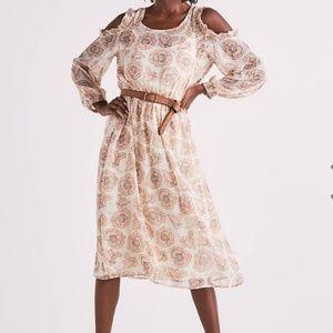 Lucky Brand Cold Shoulder Floral Garden Dress